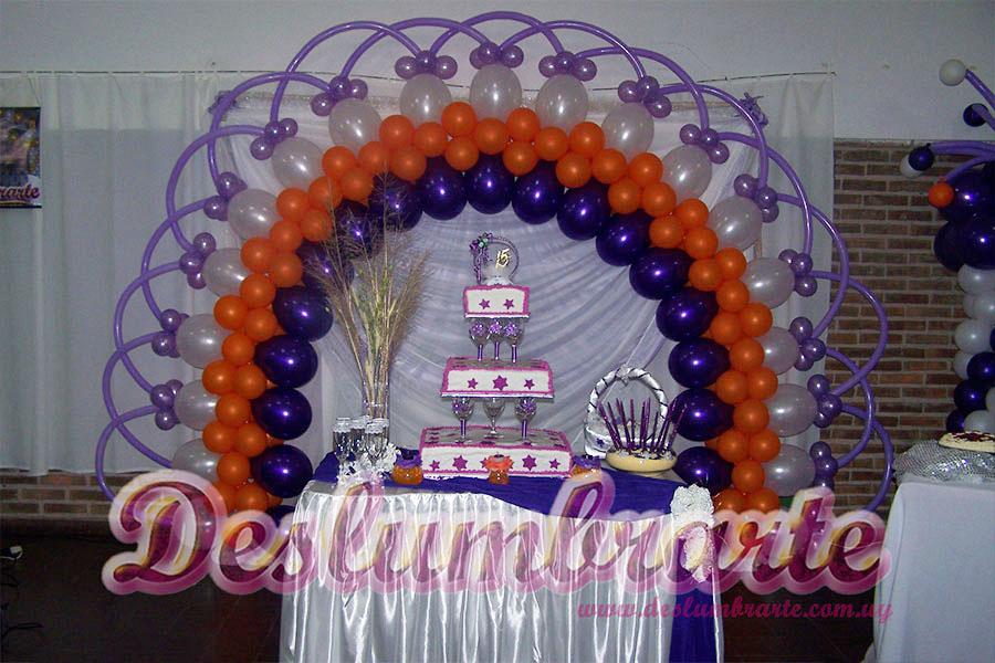 15 A 241 Os Con Globos Naranja Y Violeta