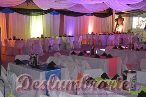 Ambientación de salones con luces