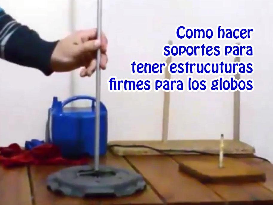 Construir bases para los globos y armar duplas y cuartetos