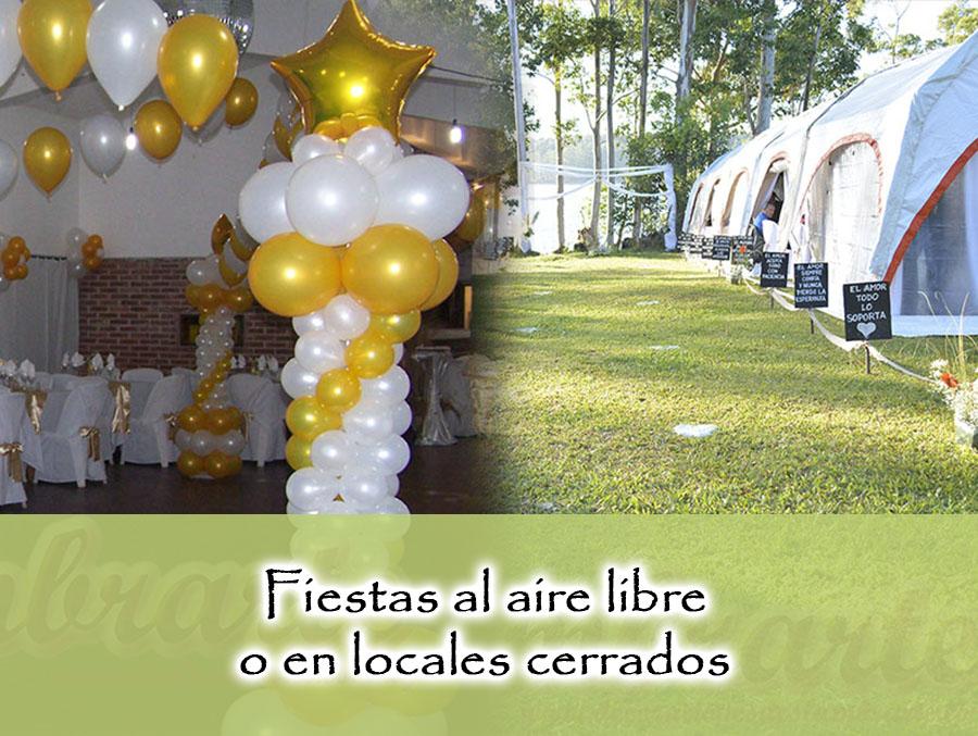Fiestas al aire libre o en locales cerrados