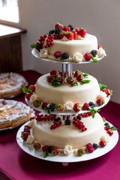 Decoración de tortas, tortas con frutas