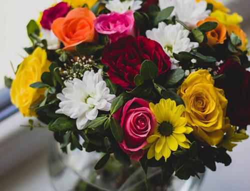 Centros de mesa hechos con flores