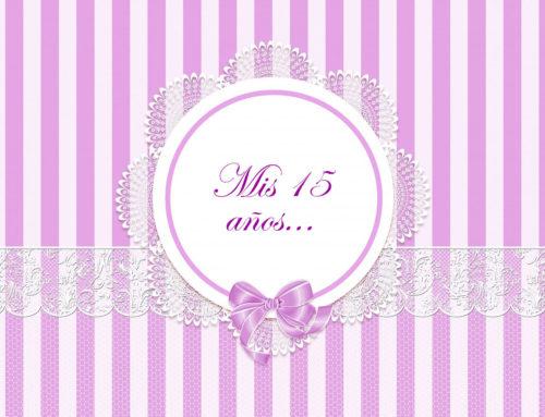 Tarjetas o invitaciones para fiestas de 15 años
